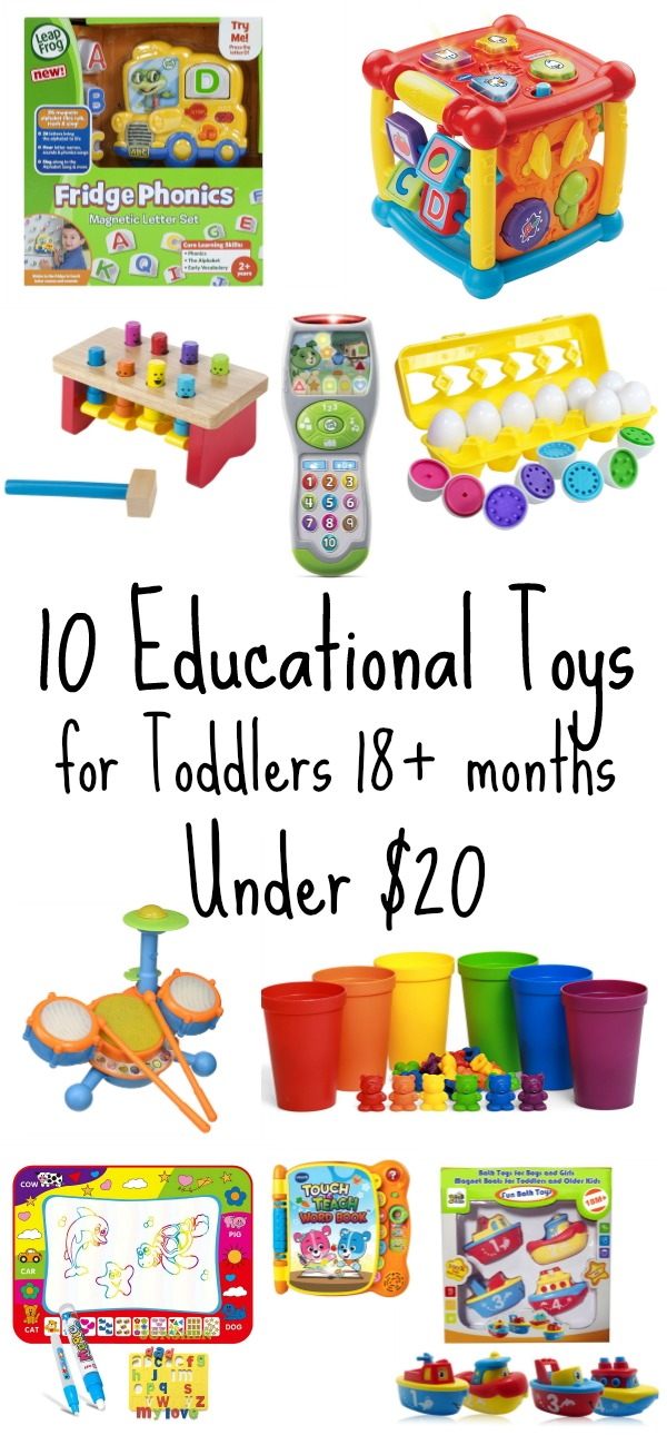 10 Educational Toys for Toddlers Under $20- STEM gifts