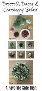 Broccoli dish | Potluck Side Dish | Broccoli Slaw | Holiday Side | Broccoli Bacon Cranberry | Coleslaw Dressing | Salty and Savory Dish | Family potluck