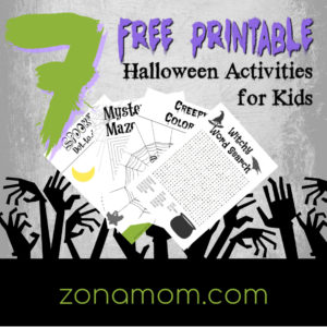 photograph relating to Halloween Printable Activities referred to as 7 Cost-free Printable Halloween Pursuits for Young children - ZonaMom