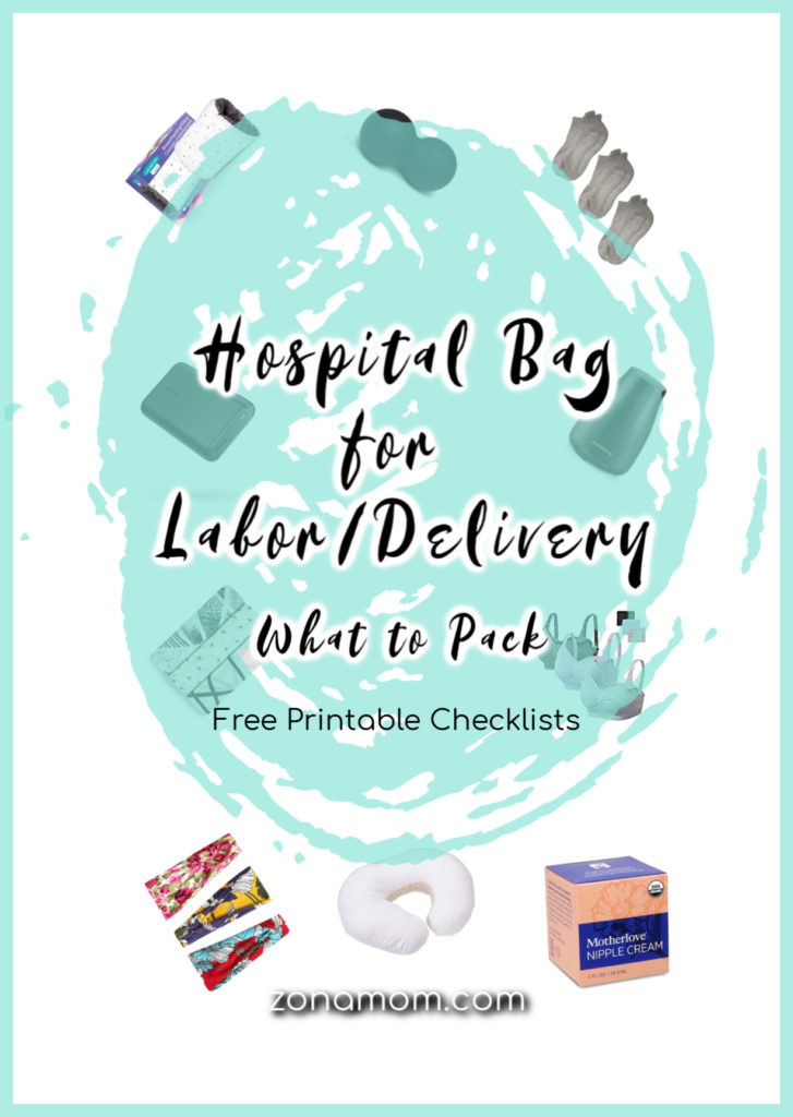 photo regarding Printable Hospital Bag Checklist for Labor and Delivery named Packing My Healthcare facility Bag: Labor/Shipping and Kid - ZonaMom