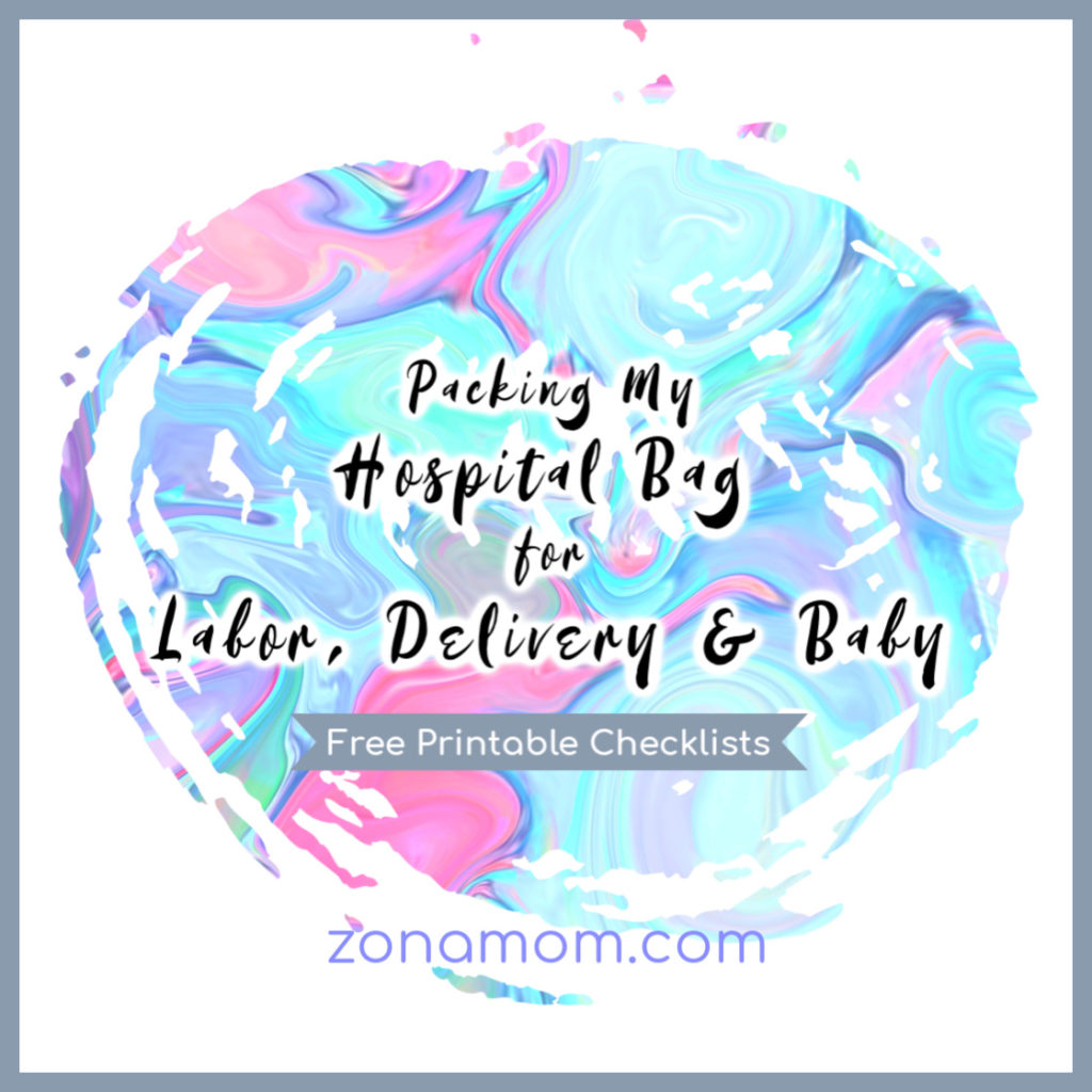 picture about Printable Hospital Bag Checklist for Labor and Delivery called Packing My Medical center Bag: Labor/Shipping and Youngster - ZonaMom